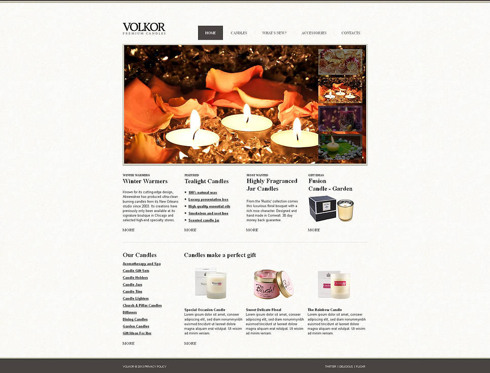 Gifts Store Website Template with a jQuery Gallery - image