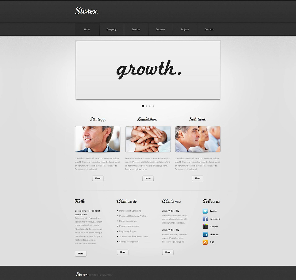 Clean, Simple and Minimalist Business Website Template - image