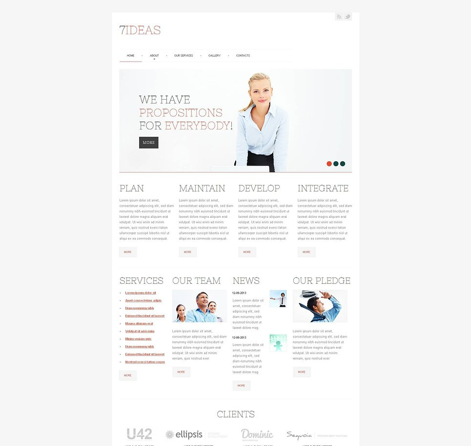 Clean Style Website Template with Clutter-free Design - image