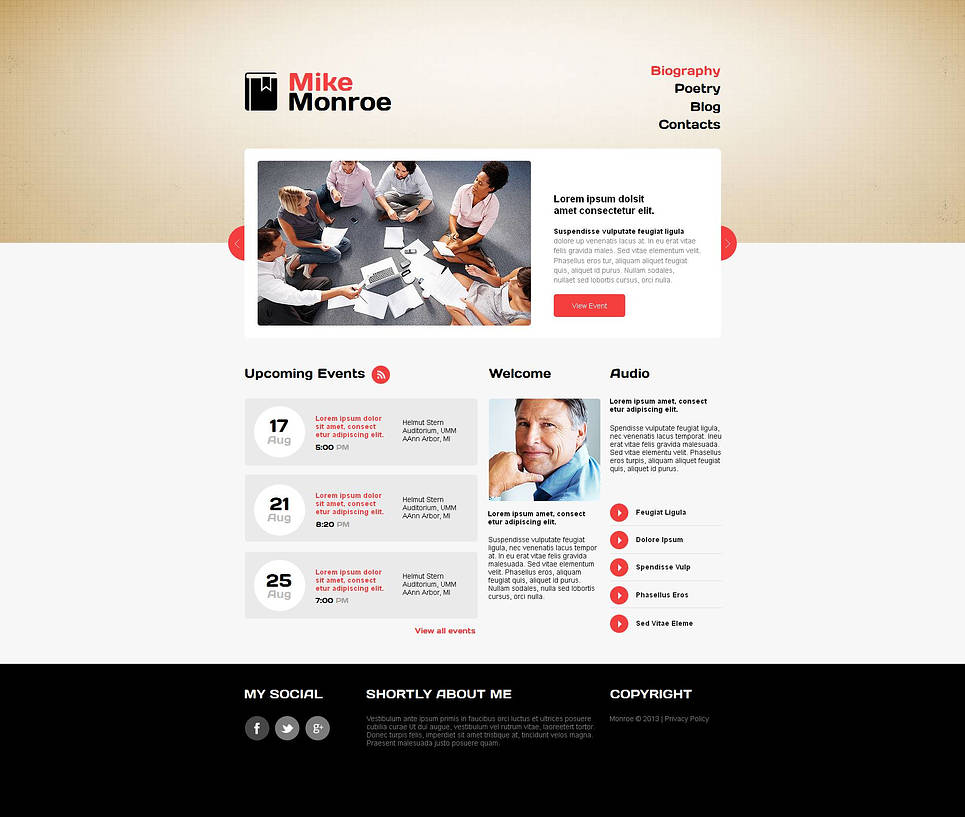 Personal Website Template for a Poet or Writer - image