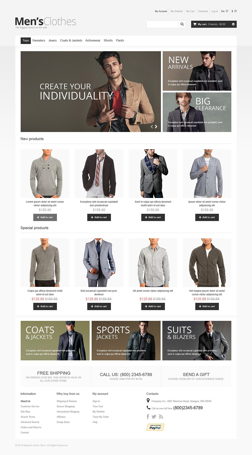 Fashion clothes websites