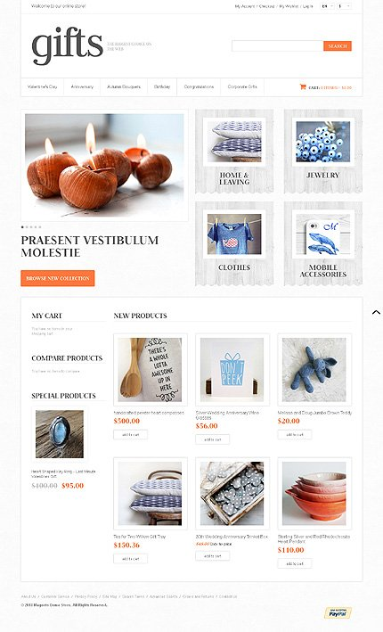 Gifts –Best Gifts Shop Magento Theme