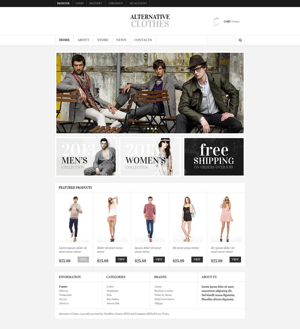 Alternative clothes - Stylish Responsive Alternative Fashion Apparel Store Jigoshop Theme