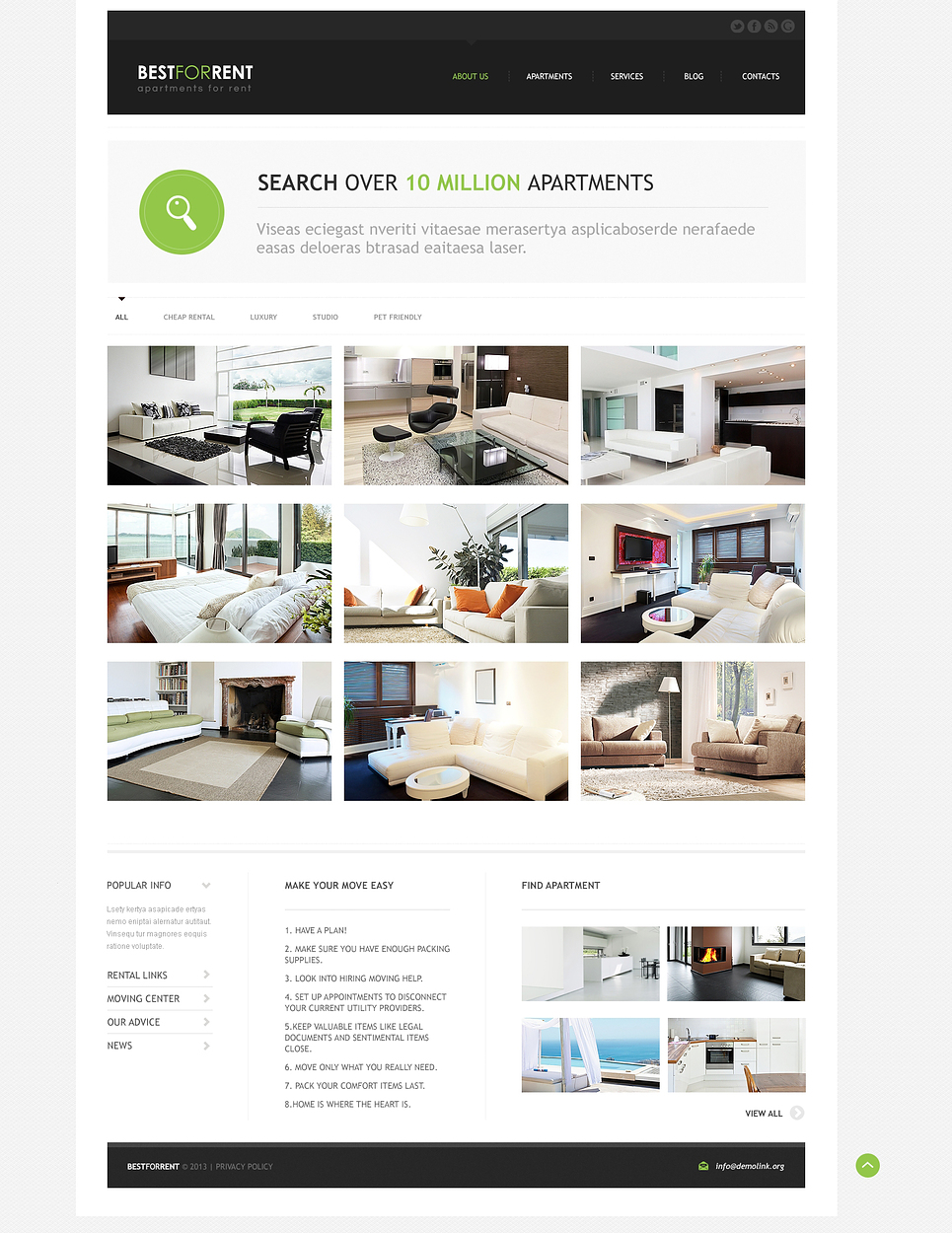 Best Apartments For Rent Responsive Joomla Template