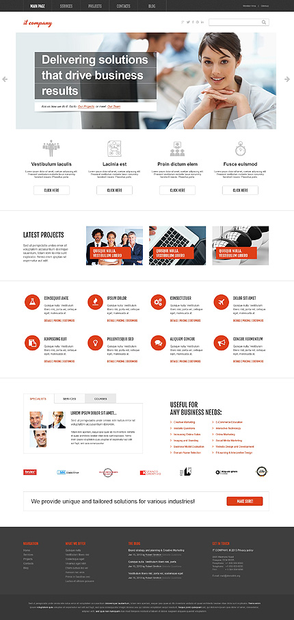 View live Demo for IT Services Company - Corporate Responsive WordPress Theme