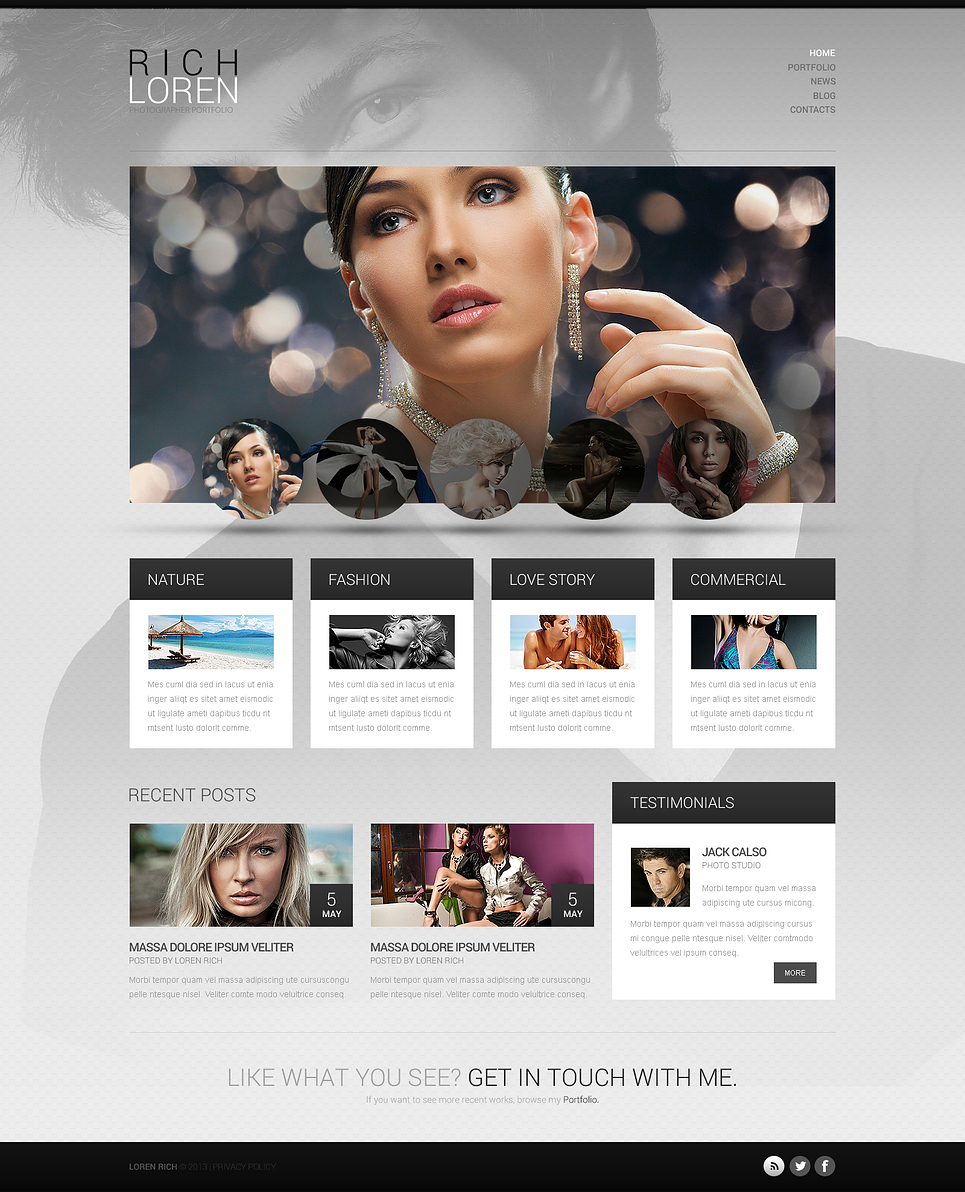Fashionable Photographer Portfolio WordPress Theme New Screenshots BIG