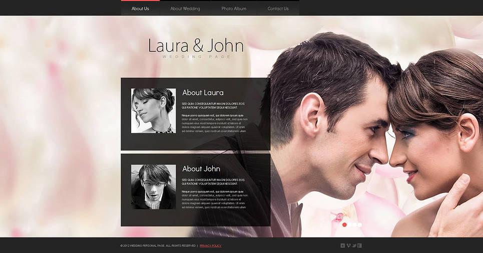 Шаблон сайта визитки свадебного фотографа - image