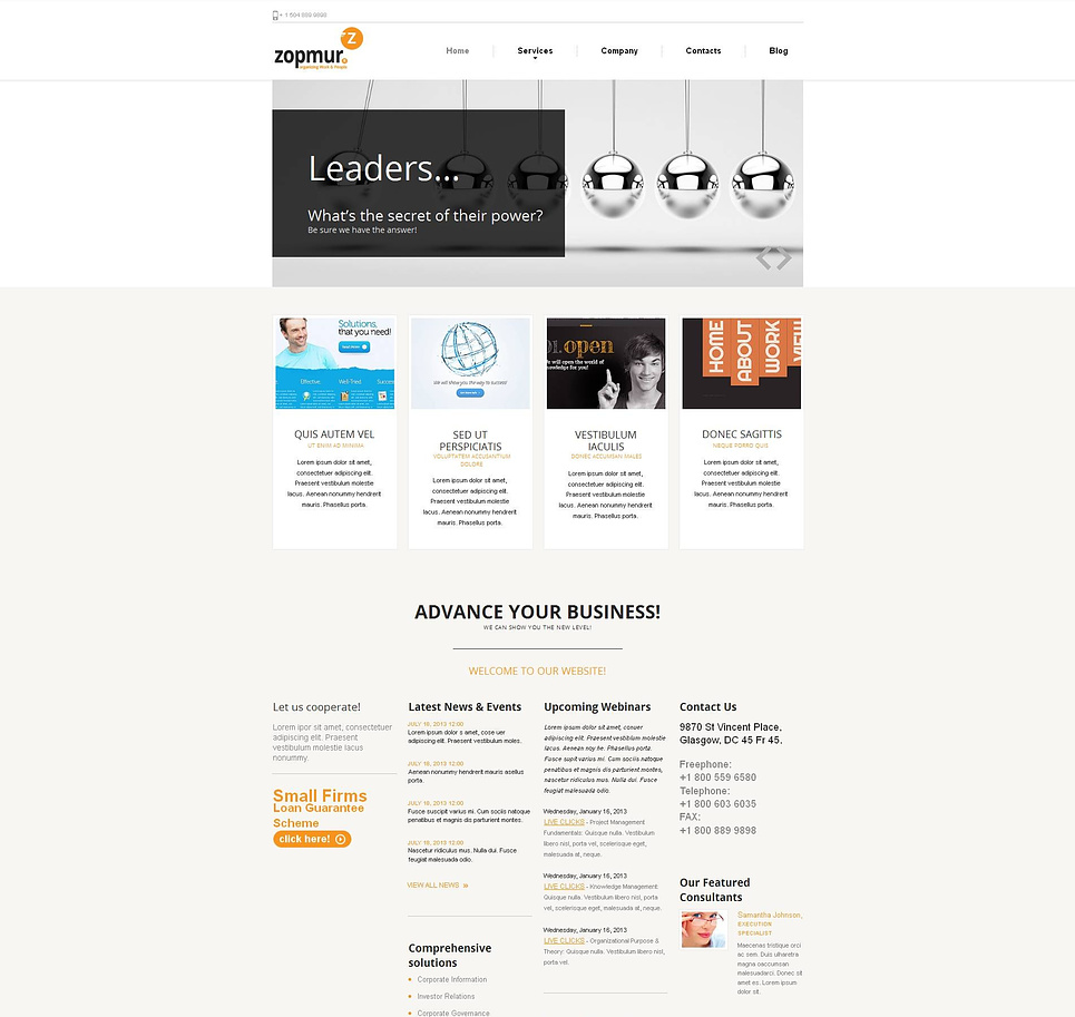 Content Rich Commercial Website Template - image