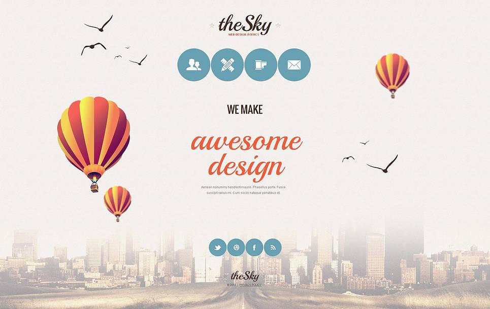 Web Design Agency Template with Stylish Menu - image