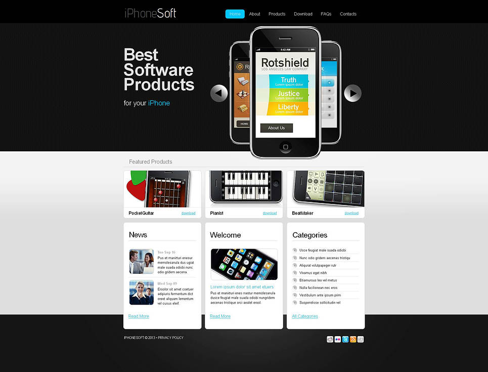 Black and White Website Template for Software Developers - image
