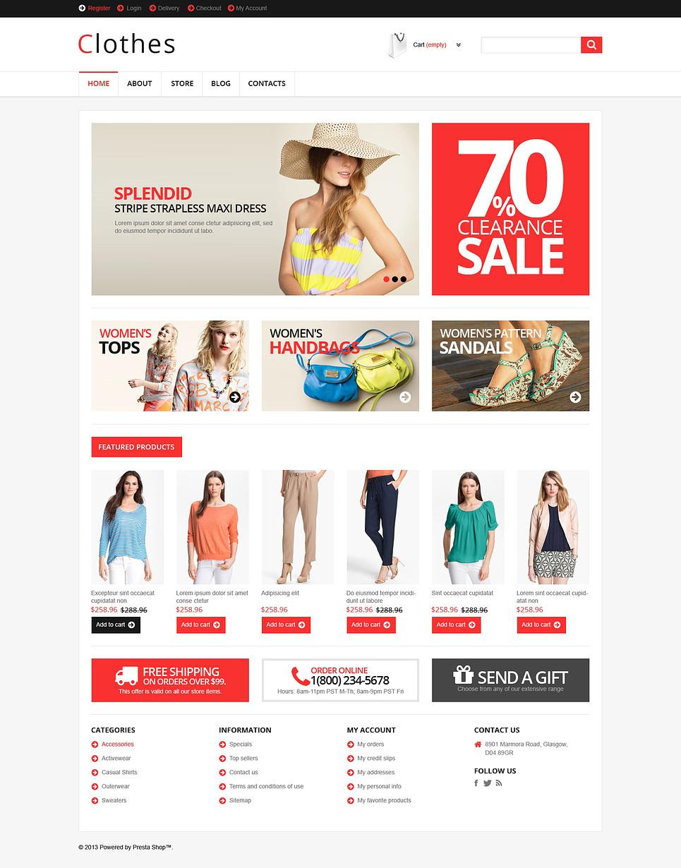 Clothes - Trendy Responsive Fashion Apparel Store Jigoshop Theme