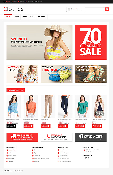 View live Demo for Clothes Store - Another Best Fashion Responsive WordPress Jigoshop Theme