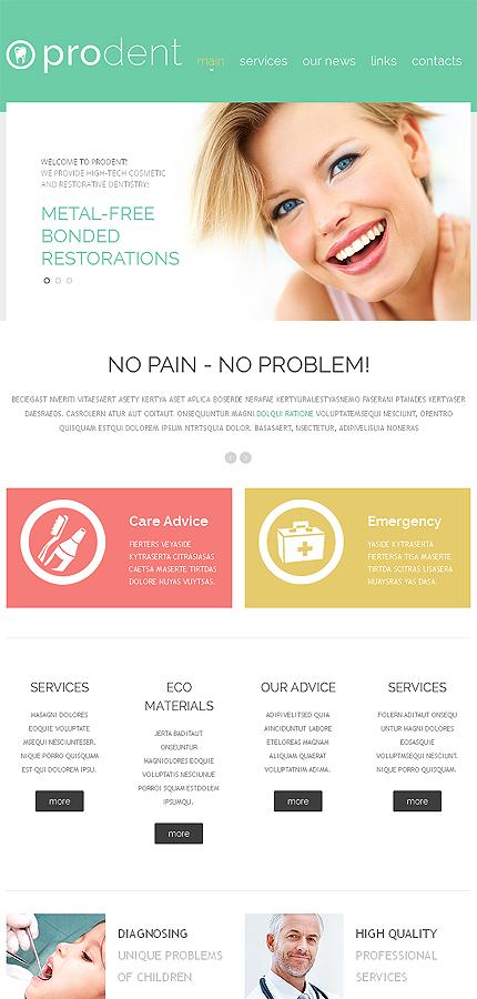 dentistry responsive website template  46442