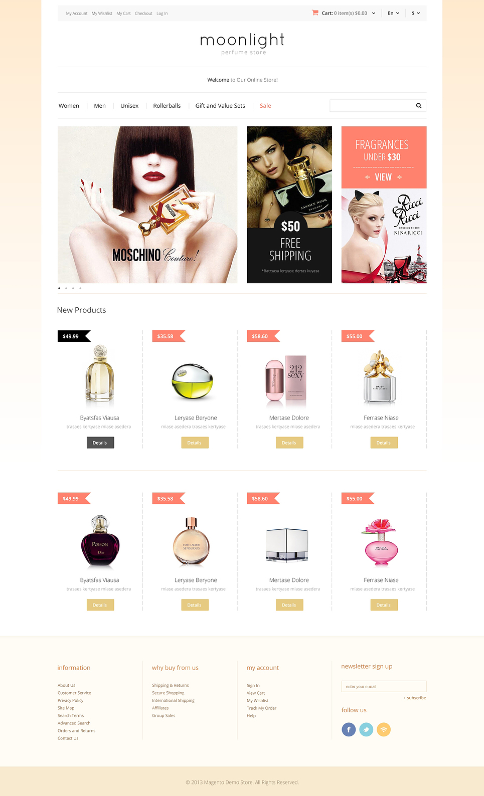 Best looking beauty store magento themes for Magento community templates
