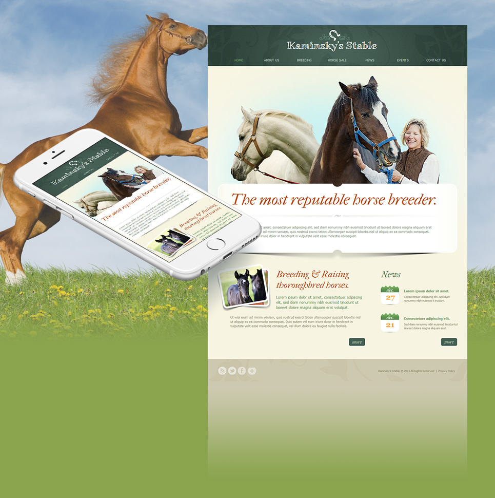 Creative Website Template for Horse Businesses - image