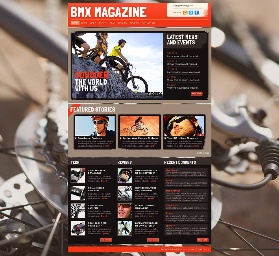 BMX Website Template with Photo and Video Galleries - image