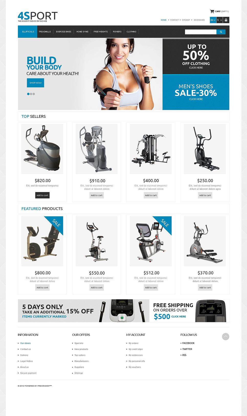 Ultimate Responsive Sport Store PrestaShop Theme