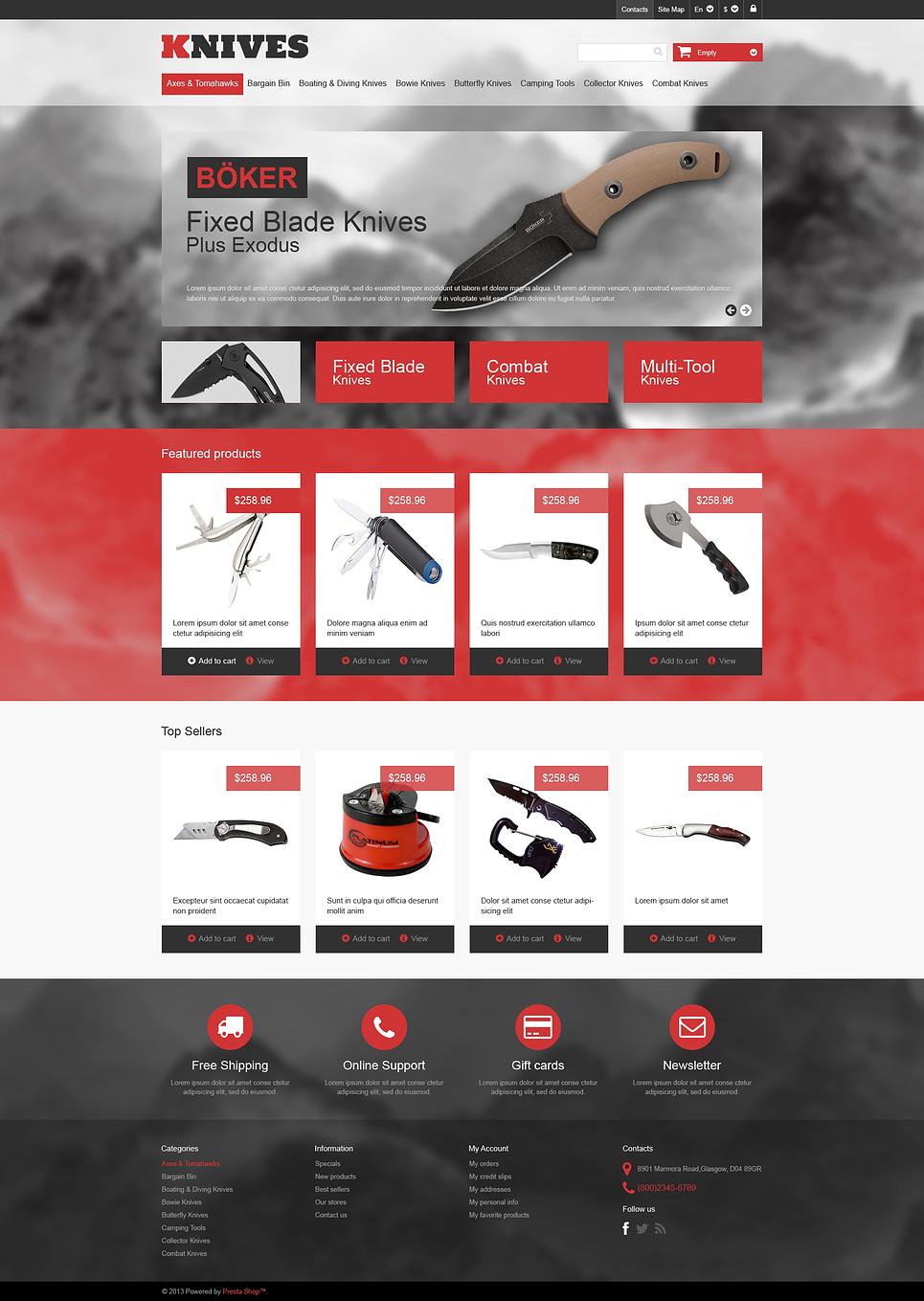 MultiPurpose Knives Prestashop Theme