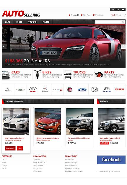Auto Sale -Bootstrap Based Responsive Prestashop Cars Bike Store Theme