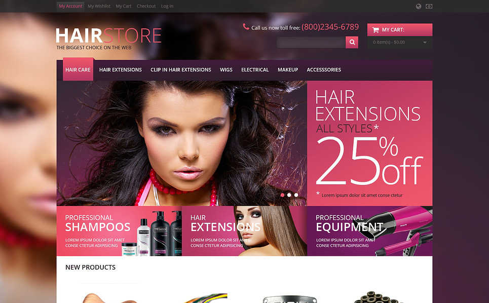 Responsive Hair Store Magento Theme New Screenshots BIG