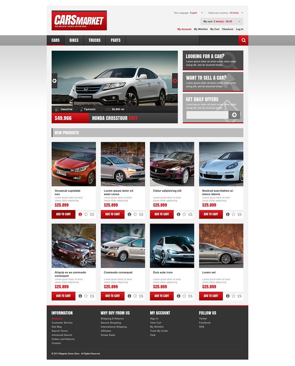 Stunning Cars Market Magento Theme