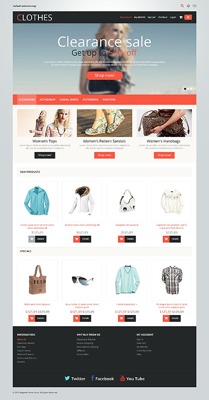Clothes - Elegant Responsive Magento Fashion Store Theme
