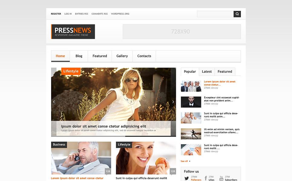Interesting News Portal WordPress Theme New Screenshots BIG
