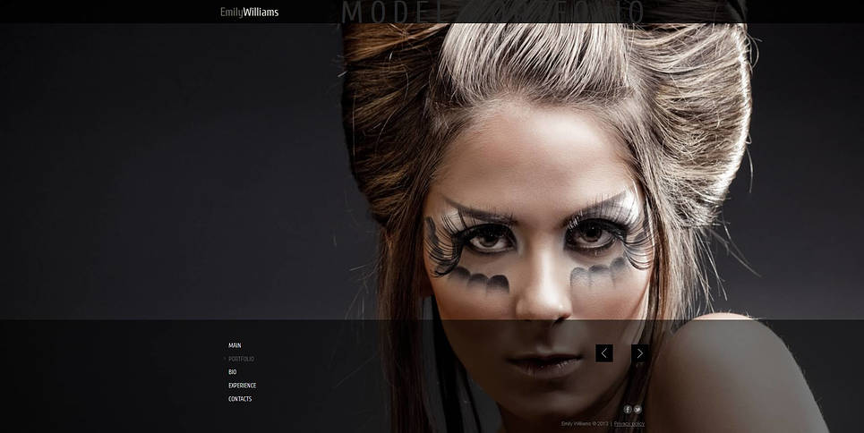 Portrait Photography Website Template with a Background Gallery - image