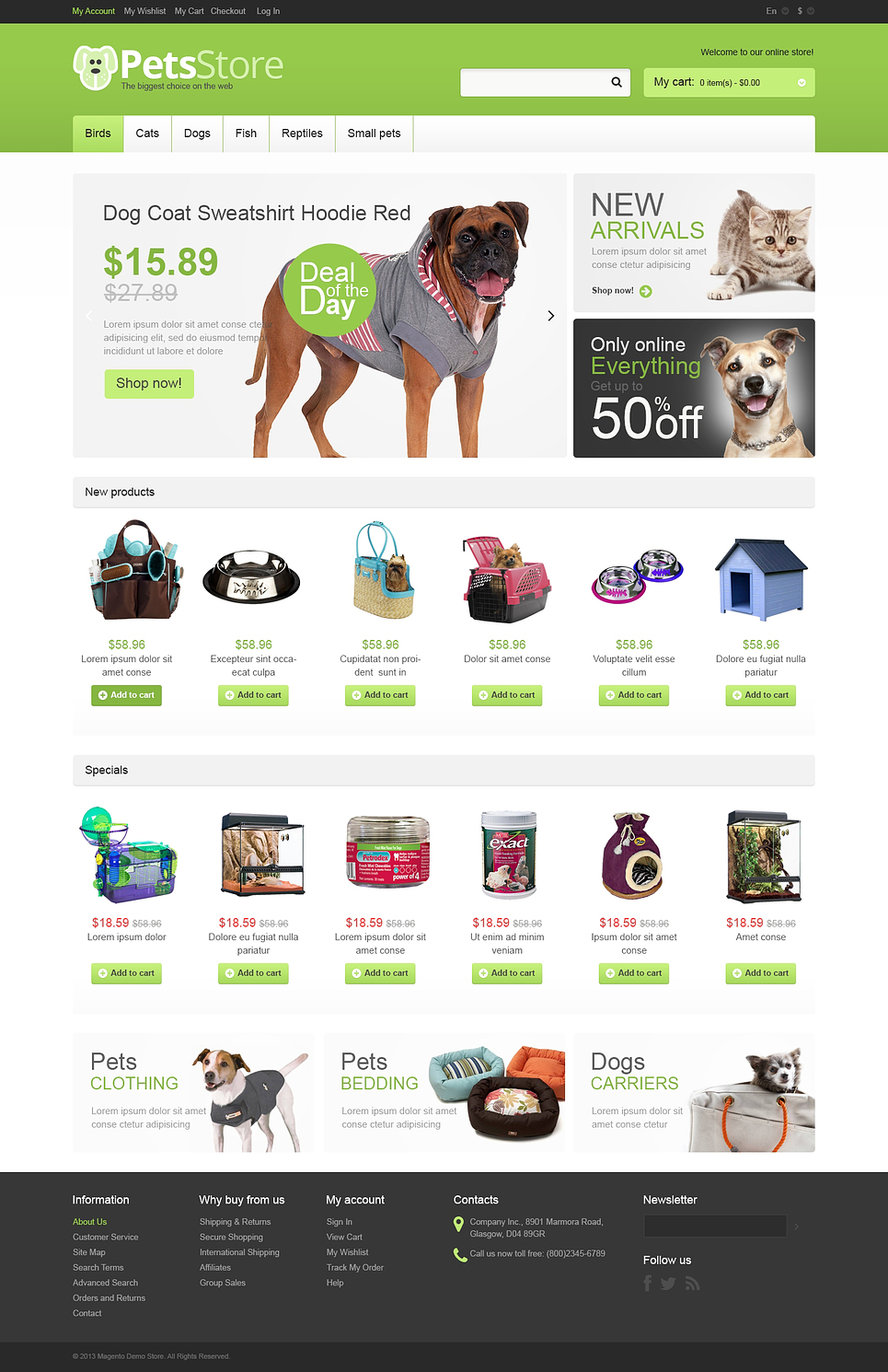 Excellent Responsive Pet Store Magento Theme