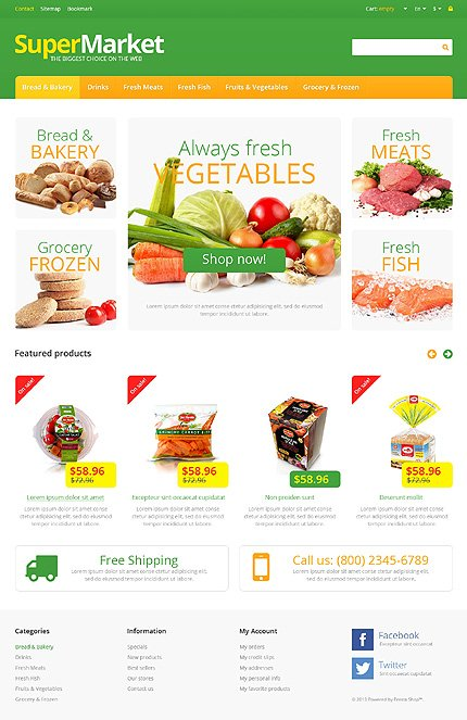 Supermarket - Attractive Grocery Store PrestaShop Theme