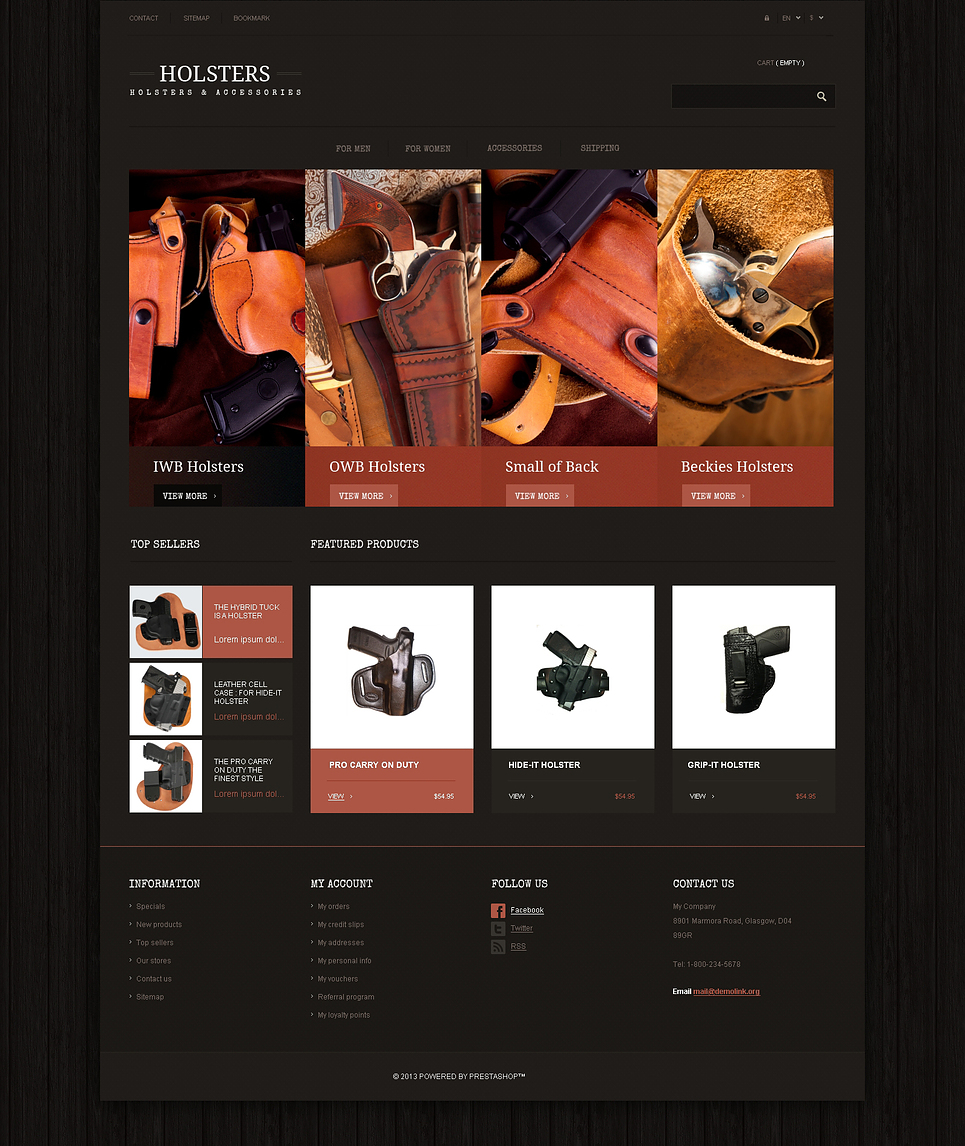 Best Responsive Holsters Store Prestashop Theme