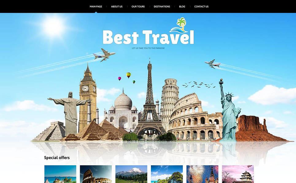 Travelling Joomla Template New Screenshots BIG