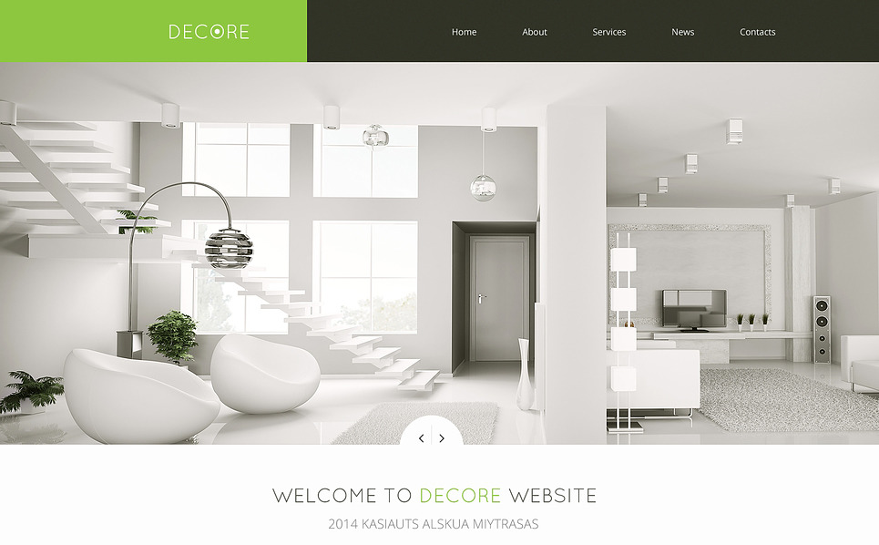 home decor responsive website template 46692. Black Bedroom Furniture Sets. Home Design Ideas