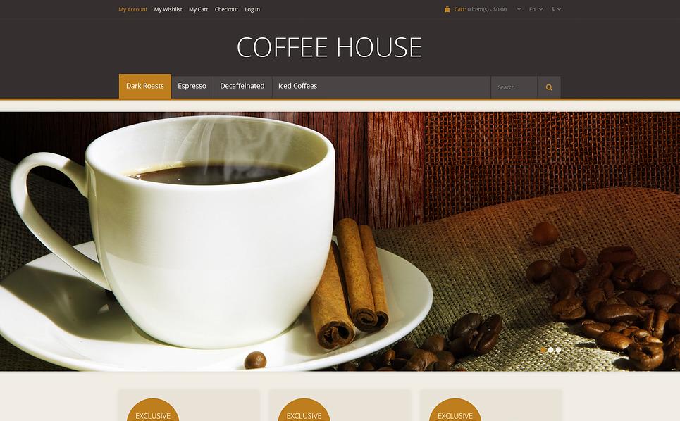 Responsive Coffee House Magento Theme New Screenshots BIG