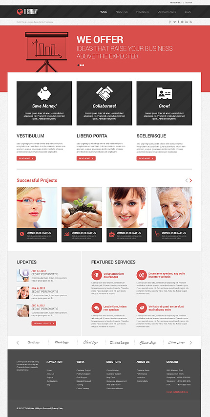 View live Demo for Symbolic IT Company - Corporate Responsive WordPress Theme