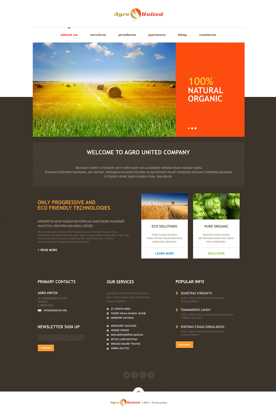 Agriculture to Impress WordPress Theme New Screenshots BIG