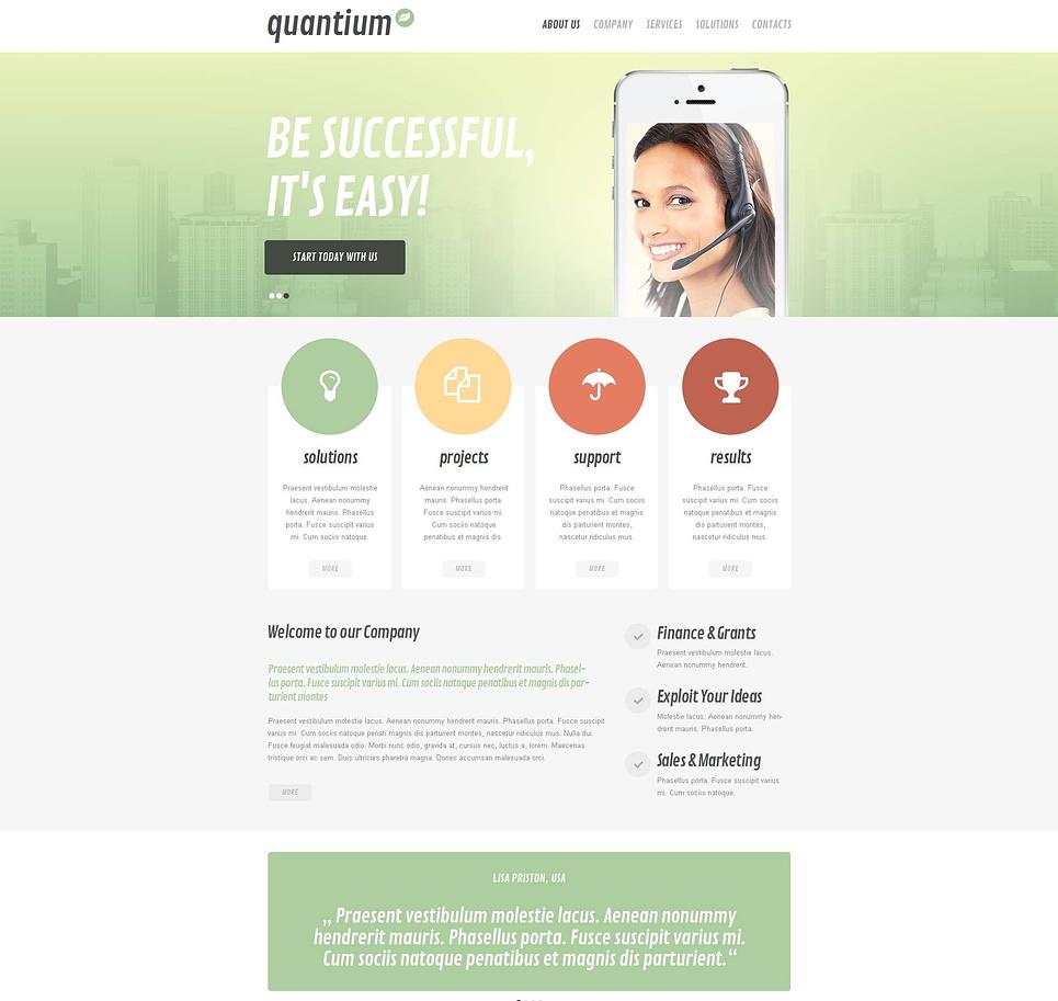 Mobile Software Provider Website Template - image