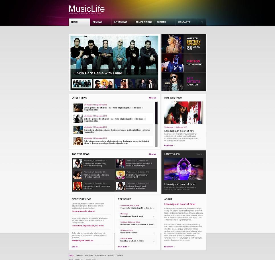 Music Portal Website Template - image
