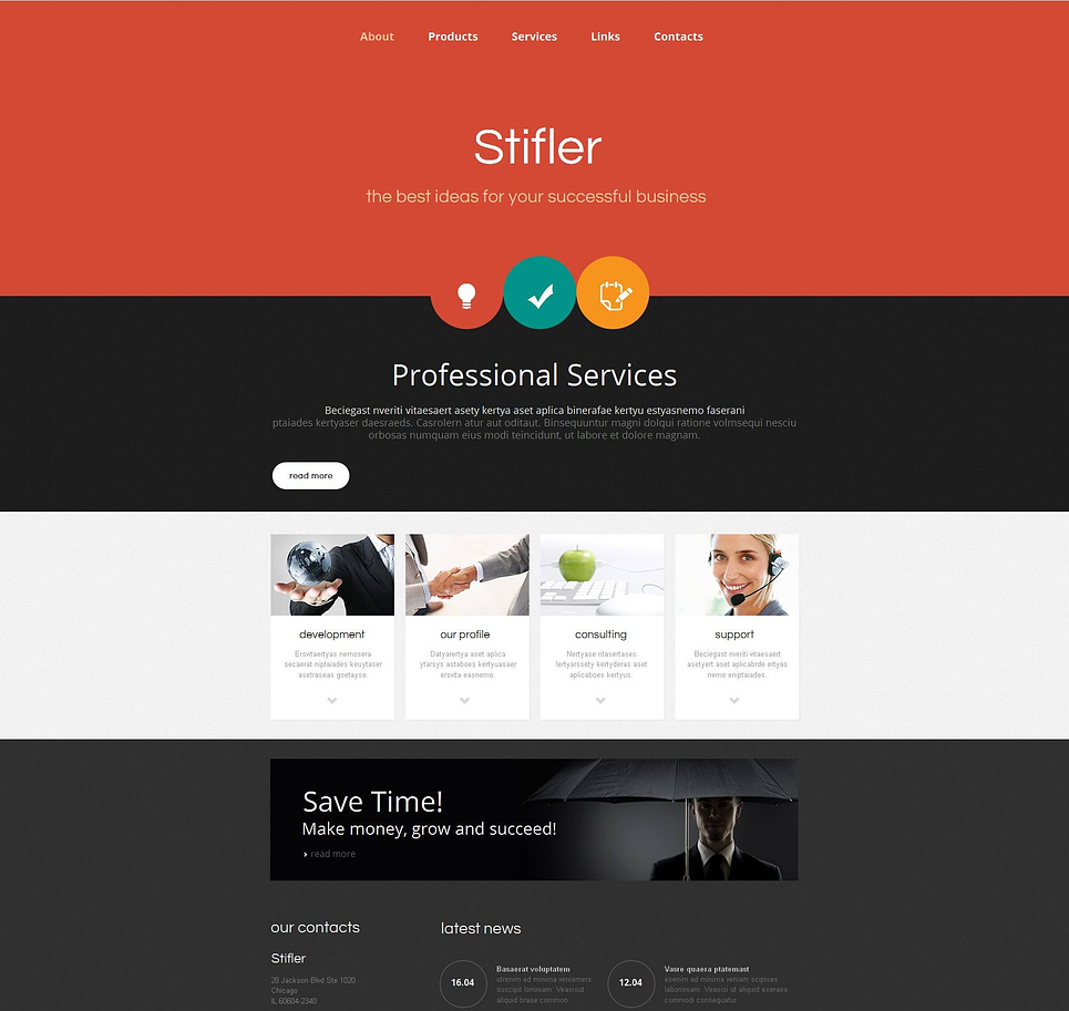 Creative Business Template with Colorful Header - image