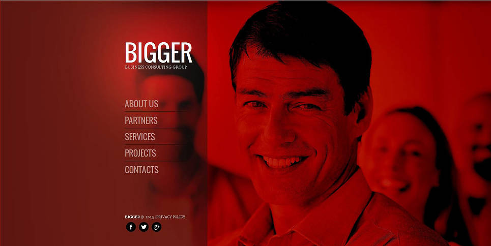 Business Website Template in Red, Black and White Colors - image