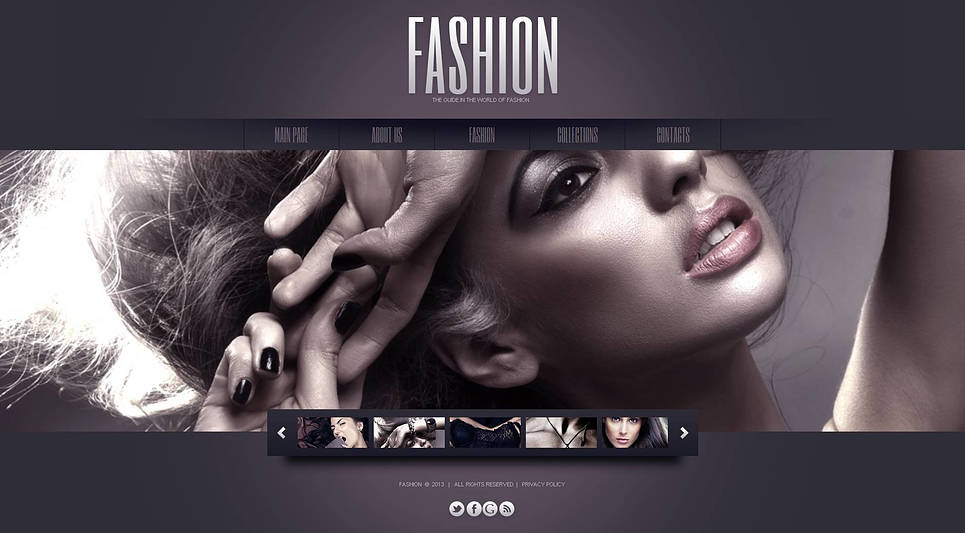Fashion Website Template with Sliding Thumbnail Images - image