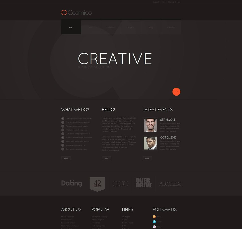 Dark Website Template for Marketing Agencies - image