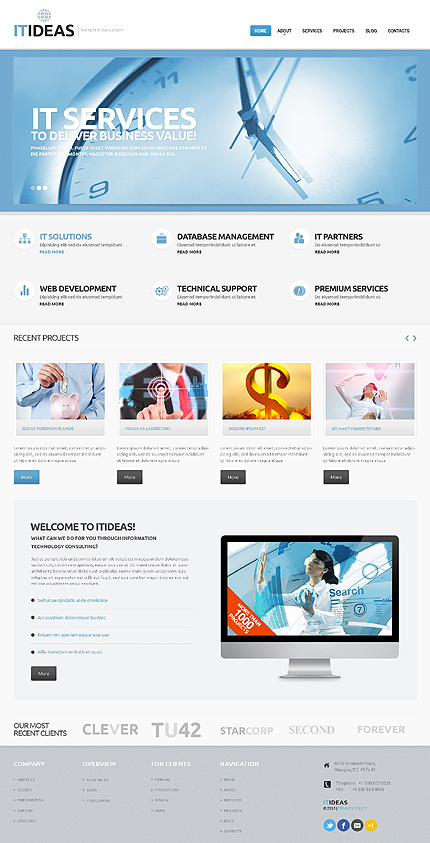 View live Demo for IT Consulting - Corporate Responsive WordPress Theme
