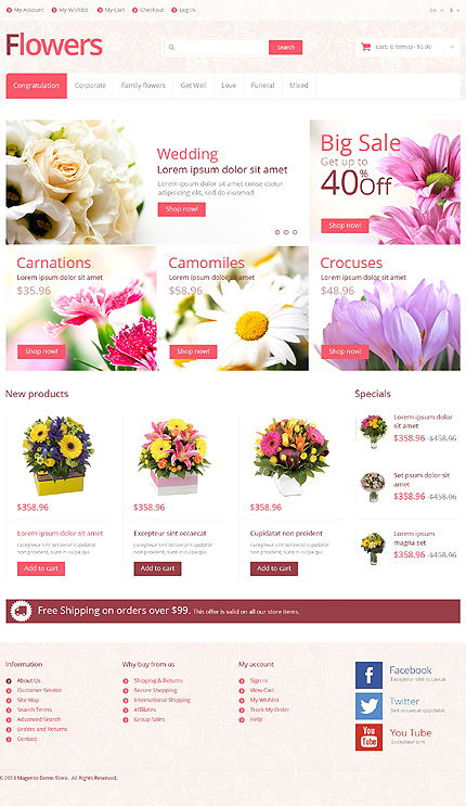Flowers – Creative Florist Store Magento Theme