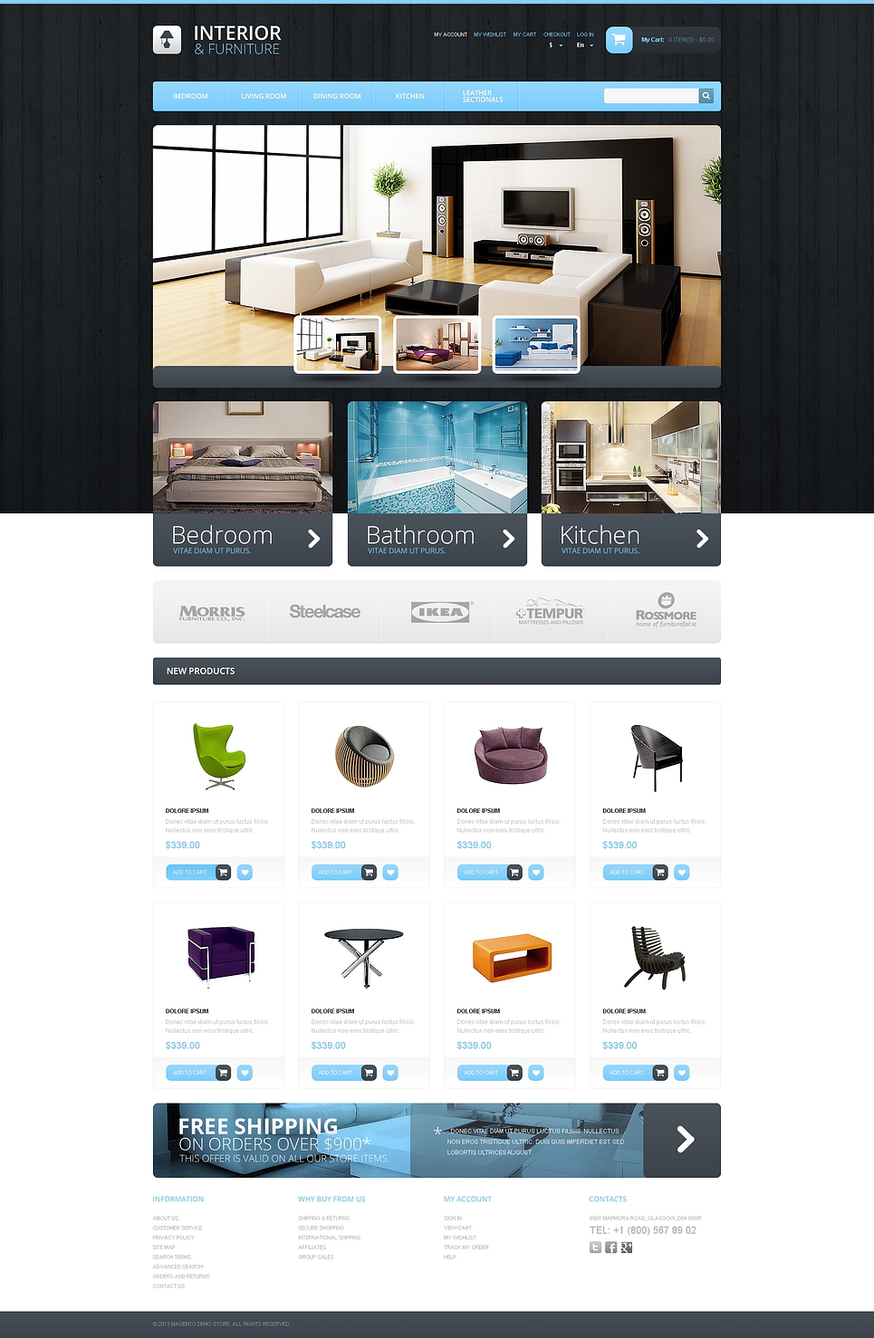 Interior & Furniture Magento Theme New Screenshots BIG