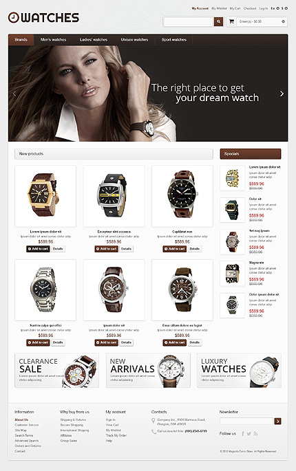 Watches - Amazing Watches Store Magento Theme