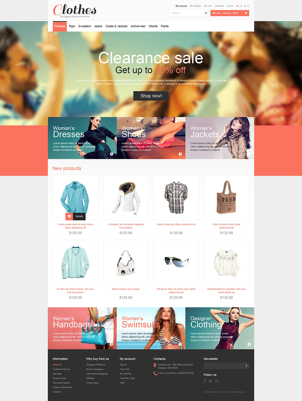 Demo clothing store website