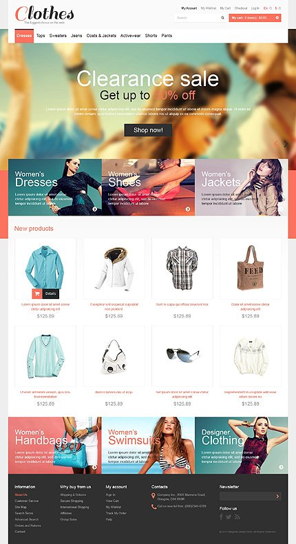 View live Demo for Clothes Store - Responsive Magento Fashion Theme