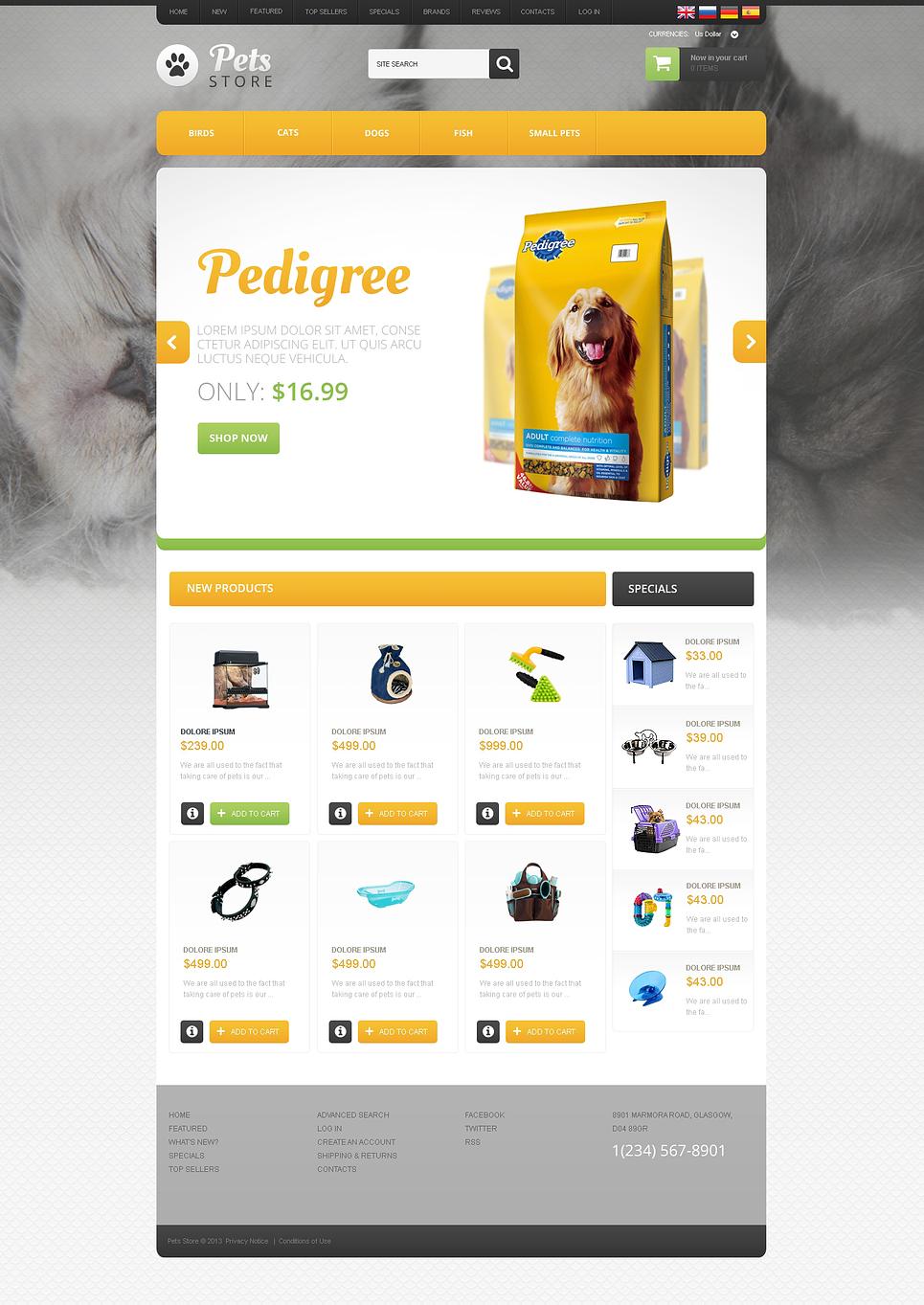 Goods for Pets OsCommerce Template New Screenshots BIG