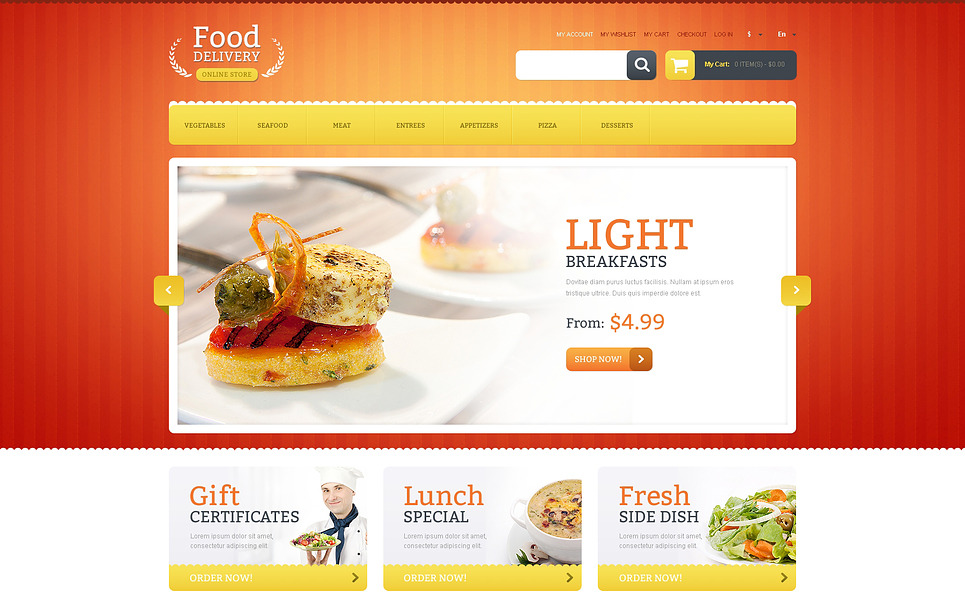 Food Delivery Magento Theme New Screenshots BIG